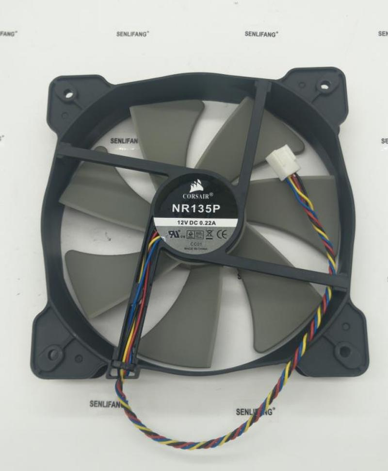 For COOLING REVOLUTION 14cm NR135P 135mm 140mm 120mm 14025 13525 12V 0.22A 4-wire 4pin Quiet HX750 Power Cooling Fan