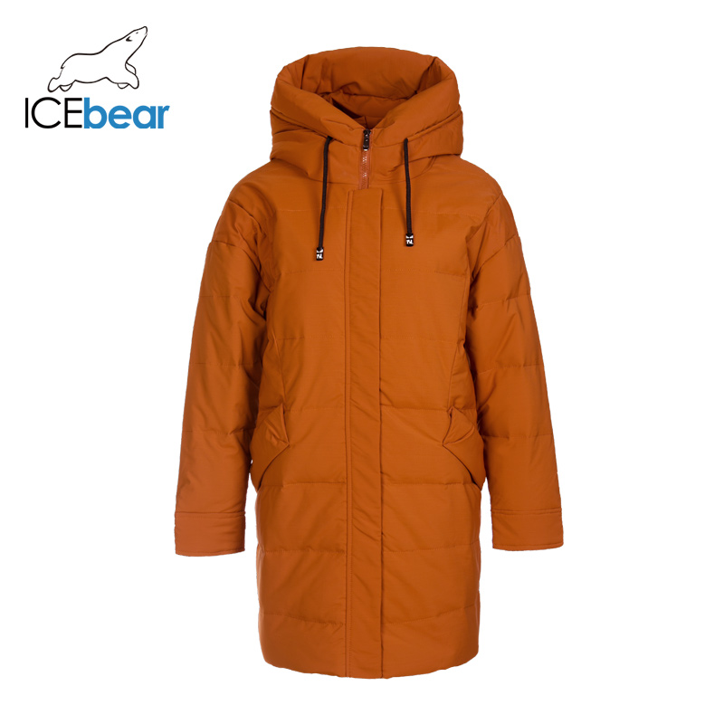 ICEbear 2019 New Winter Women's Down Jacket Fashion Warm Ladies Jacket Hooded Brand Ladies Clothing D4YY83016Y