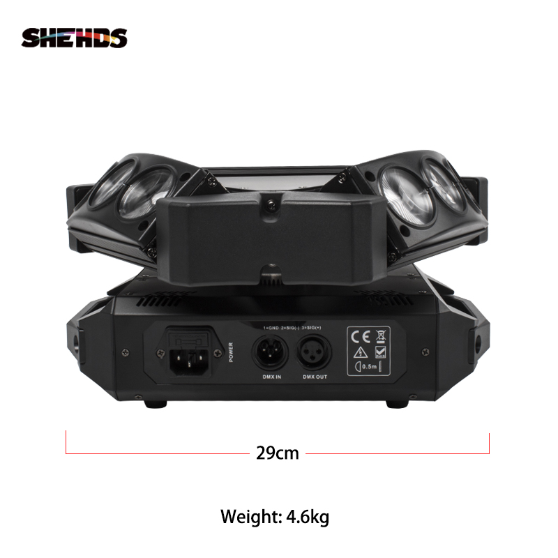 Image 4 - New Arrival MINI LED 9x10W LED Spider Light RGBW 16/48CH DMX Stage Lights Dj LED Spider Moving Head Beam Light-in Stage Lighting Effect from Lights & Lighting on