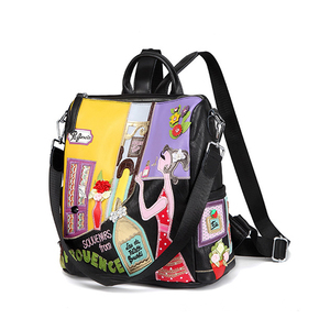 Image 2 - IPinee kobiety plecak moda przyczynowe torby wysokiej jakości haft kobieca torba na ramię PU skórzane plecaki dla kobiet Mochila