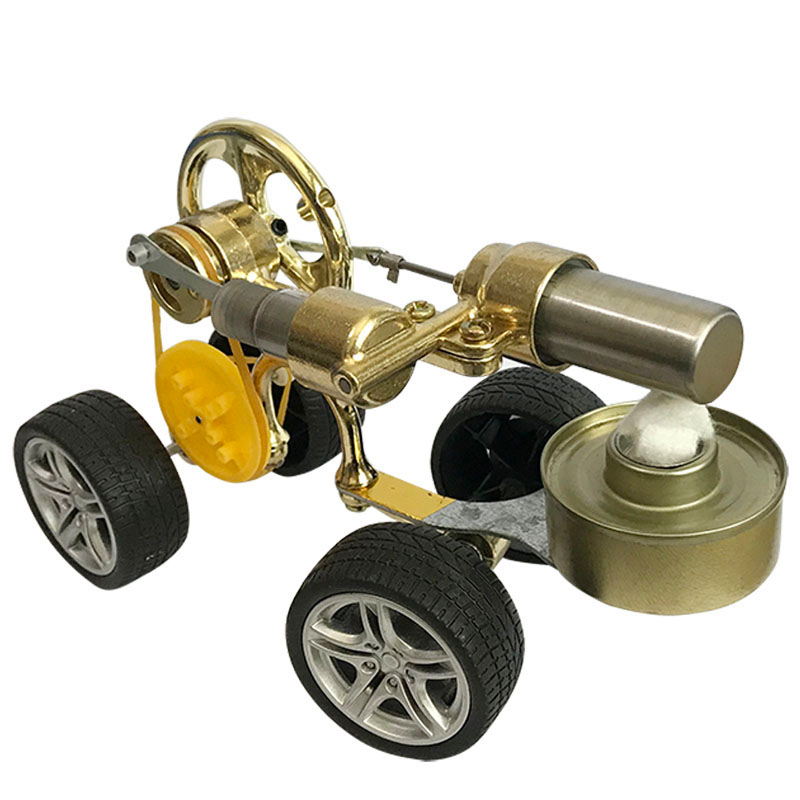Stirling engine car kit car walkable steam physics science external combustion small generator experimental toy model