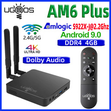 UGOOS AM6 בתוספת טלוויזיה תיבת אנדרואיד 9.0 טלוויזיה חכמה תיבת AM6 פרו S922X DDR4 4GB RAM 32GB כפולה wiFi 1000M BT5.0 4K מדיה נגן AM6 2G 16G