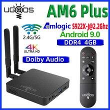 UGOOS AM6 زائد التلفزيون مربع الروبوت 9.0 مربع التلفزيون الذكية AM6 برو S922X DDR4 4GB RAM 32GB المزدوج واي فاي 1000M BT5.0 4K مشغل الوسائط AM6 2G 16G