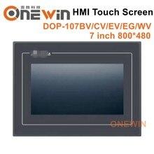 Nowy i oryginalny DOP 107BV DOP 107CV DOP 107EV DOP 107EG DOP 107WV ekran dotykowy HMI 7 cal interfejs człowiek maszyna wyświetlacz