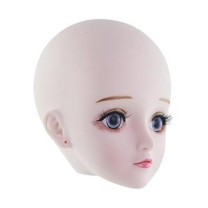 Image 4 - חדש 60cm Bjd בובת צעצועי 3D עיני DIY קירח ראש עירום עירום 21 מפרקים גוף נשי בובת גלוי ראש בובות צעצוע עבור בנות