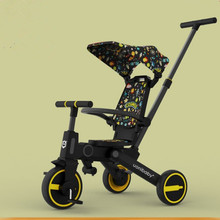 Children's tricycle bicycle 1-3-6 years old folding baby stroller baby bicycle slip baby artifact