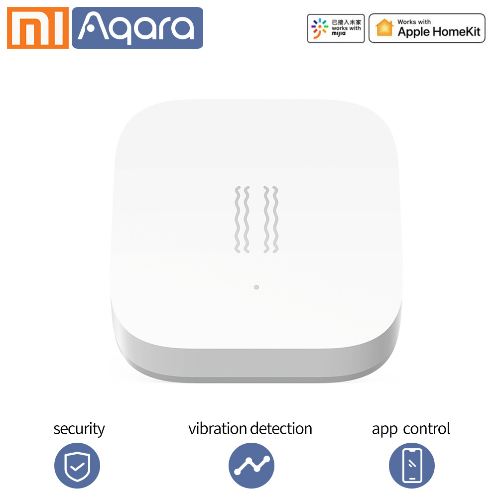 Aqara Smart Motion Sensor Shock Sensor Vibration Detection Alarm Monitor Zigbees Ensor For Xiaomi Smart Home Sensor