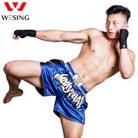 WESING Muay Thai Shorts MMA Men and Women Boxing Muay Thai Kickboxing Fight Grappling Printing Shorts