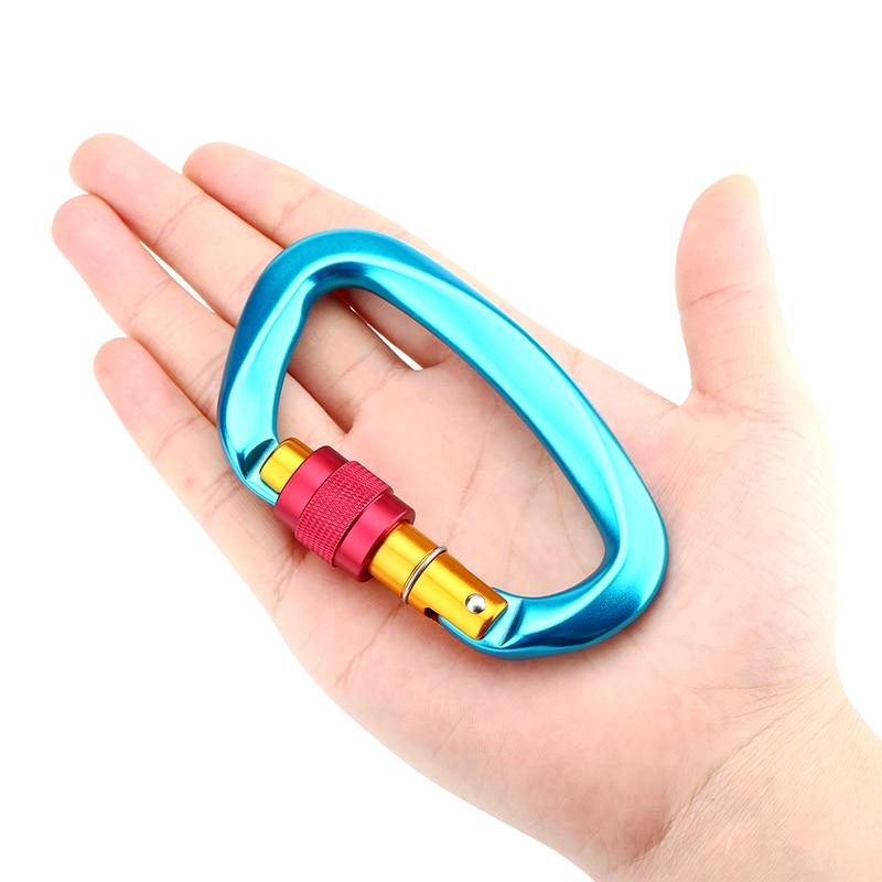 Safety Master Lock Carabiner D-shaped Carabiner Key Hook Climbing Hammock Backpack Buckle Outdoor Gear Portable Ultralight