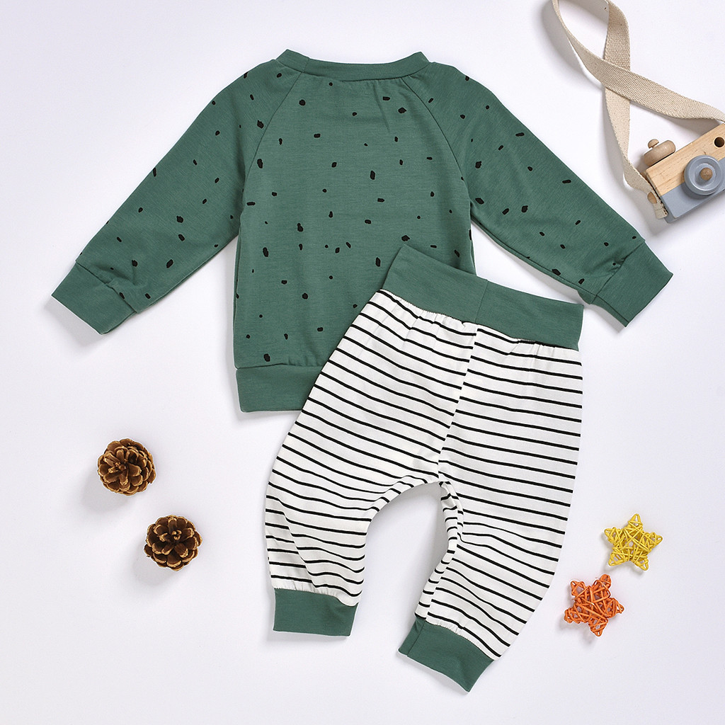Newborn Clothes Kids Clothes Baby Boy Clothes roupa infantil Cartoon Bear Sweatshirt Tops+ Pants Outfits Set Free Ship Z4 5
