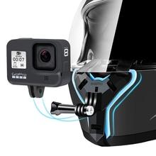 Full Face Motorcycle Helmet Chin Mount Holder Stand for GoPro Hero 9 8 7 6 5SJCAM Xiaomi yi 4k Eken SJ6 mijia Camera Accessories