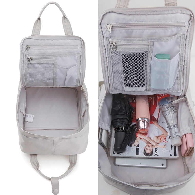 Nowy plecak podróżny wodoodporny Nylon plecaki o dużej pojemności kobieta 14 Cal plecak na laptopa kobiety szkolne torby dla nastoletnich dziewcząt
