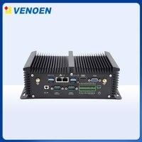 Mini pc server core i7 i5 8250U 8350U industrial fanless computer RS232/422/485 COM 2 gigabit lan thin client i5 4200U