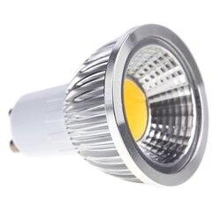 Lumière LED GU10 3W COB ampoule de projecteur à économie d'énergie blanc chaud 85 - 265V