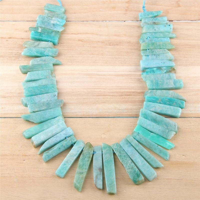 Natural Aventurine Slice Beads Green Jade Gemstone Point Beads Bulk Slab Spike Stick Dagger beads Supplies 7-12*25-55mm 15.5 full strand