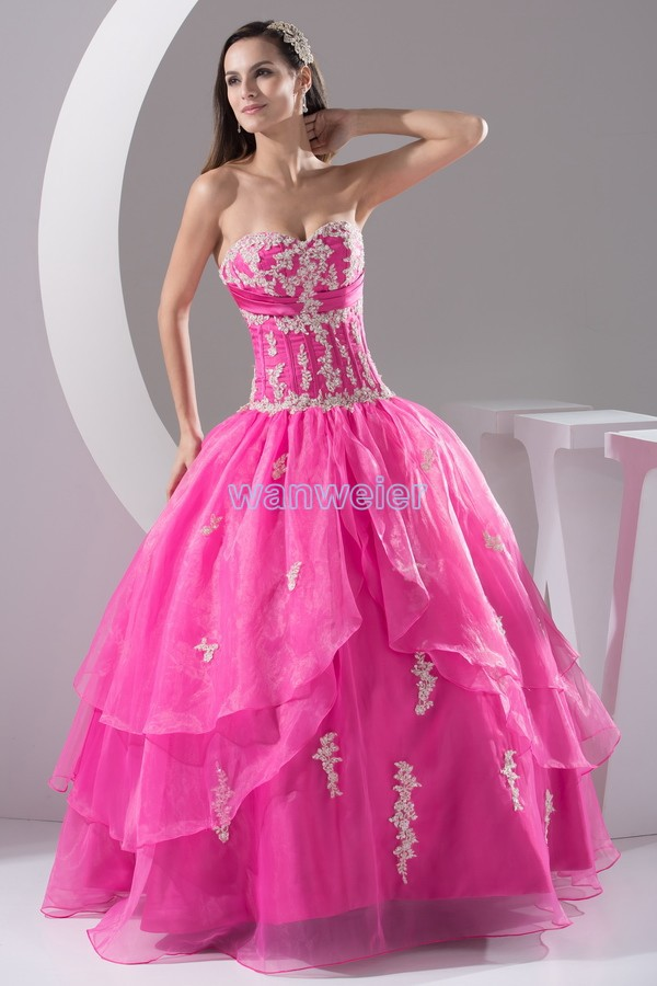 Free Shipping 2016 New Design Dropped To Hot Lace Appliques Night Custom Size Bridal Gown Plus Ball Gown Sweetheart Prom Dresses