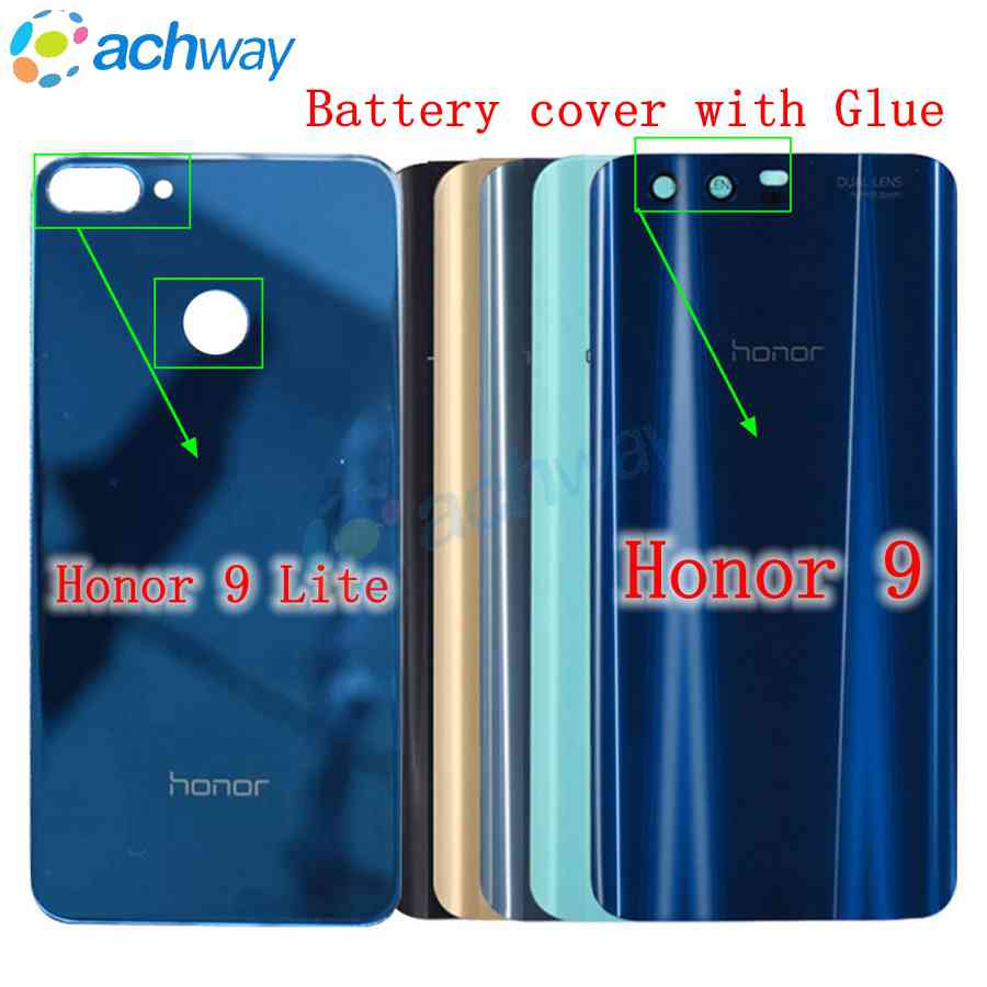 Huawei Honor 9 Battery Cover Door Back Huawei Honor 9 Lite Battery Door Replacement Parts Honor9 Lite Back Cover Case With Glue