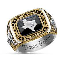 Personality Texas Map Ring Bullfight Cowboy Spirits Samurai Motorcycle Party Cool Animal Cattle for Men Jewelry