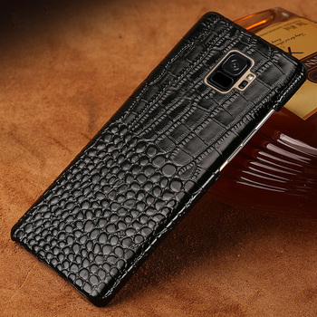 Genuine Leather Phone Case For Samsung Galaxy S8 S9 Plus Case Crocodile Texture Back Cover For S7 Edge J3 J5 J7 A3 A5 2017 Cases