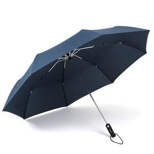 Image 5 - Orijinal marka büyük katlanır şemsiye yağmur 1.2 metre İş erkekler otomatik şemsiye rüzgar geçirmez erkek şemsiye koyu mavi ve siyah