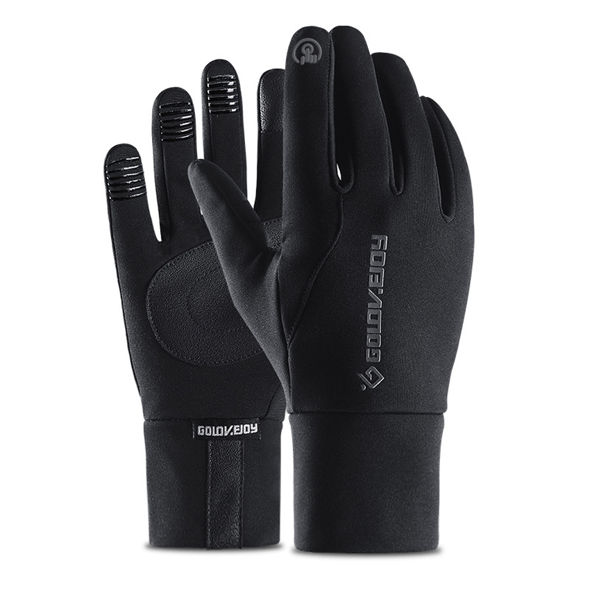 Winter Outdoor Riding Windproof Gloves Men Touch Screen Anti Slip Warm Gloves With Fluff Waterproof Full Fingers Fast Shipping