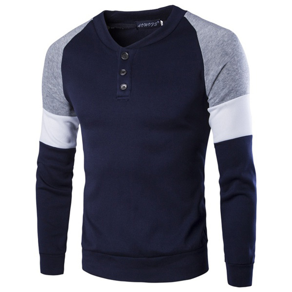 ZOGAA High Quality Patchwork Mens Polo Shirt Casual Round Neck Polos Men's Cotton Soft Long Sleeve Polo Shirt 2019 Male Clothing