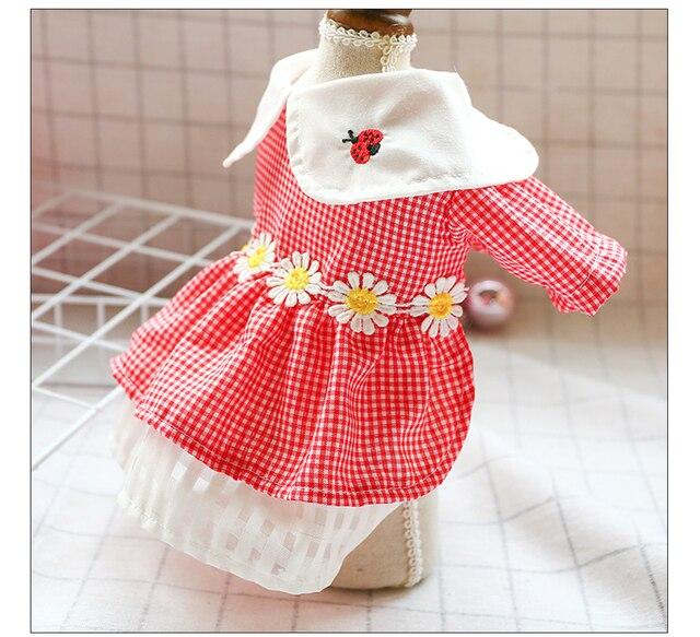 Ошейник для кукол милое платье собаки маленькая Маргаритка с