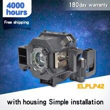 Alta qualidade para elplp42 nova substituição módulo da lâmpada do projetor para epso n EMP 400W EB 410W EB 140 w EMP 83H powerlite 822 h330b