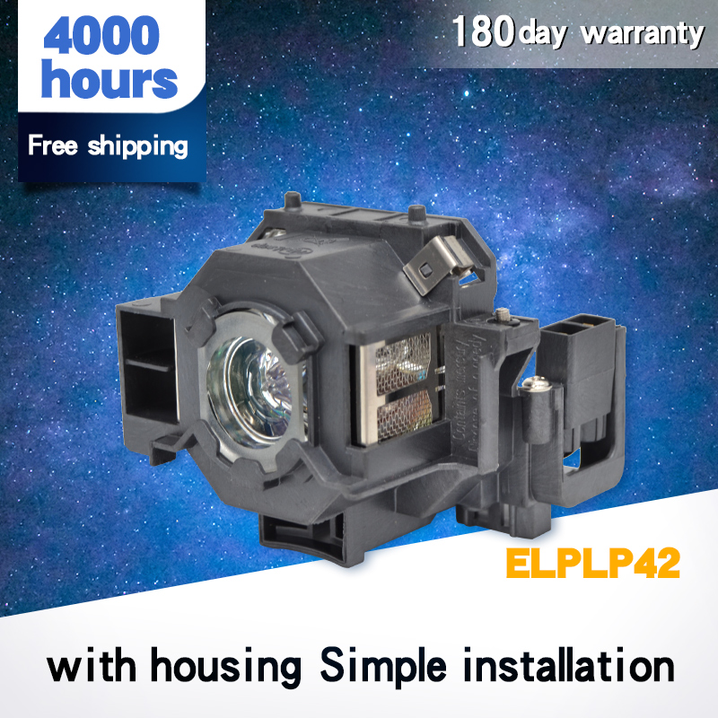 High Quality For ELPLP42 New Replacement Projector Lamp Module For EPSO N EMP-400W EB-410W EB-140 W EMP-83H PowerLite 822 H330B