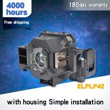 Wysoka jakość dla ELPLP42 nowy projektor zastępczy moduł lampy dla EPSO N EMP 400W EB 410W EB 140 W EMP 83H PowerLite 822 H330B
