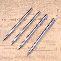 1Pcs Metal Ballpoint Pen Rotating Pen 0.5 mm Black Ink Ballpen Writing Materials Office School Supplies Stationery