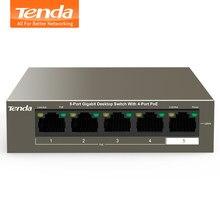 Tenda – commutateur Ethernet POE 48V, avec 6 Ports réseau RJ45, protocole IEEE 802.3 af/at, adapté au système de caméra de vidéosurveillance/AP sans fil