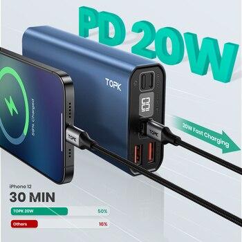TOPK I2006P PD 20 Вт Power Bank 20000 мАч