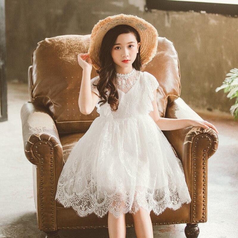 US Baby Girl Toddler Kid Princess Flared Long Sleeve Dress Wedding Party Dresses