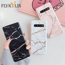 FLYKYLIN Marmor Fall Für Samsung S20 FE Hinweis 20 Ultra S10 S9 S8 Plus A51 A71 A50 A70 A41 A40 m21 Mate IMD Silicon Abdeckung A21S S21