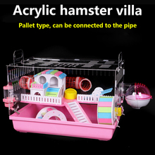 Feeding-Box Cage Hamster House Oversized Guinea-Pig Acrylic Transparent Pipe Villa Small Pet