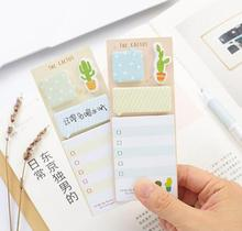 1pack/lot Cute Cactus Styling Notes Four Design Random Note Paper Tag Check List School Accessories Memo Sticky
