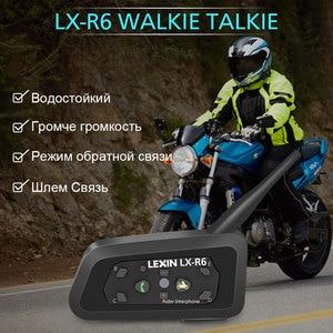 Image 5 - ليكسين R6 خوذة بلوتوث سماعات إنترفون ل 6 الدراجين BT 1 قطعة مقاوم للماء و اللاسلكية موتو البيني MP3
