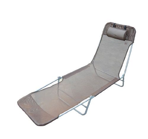 Outsunny Deck Chair Lounger Folding Recliner Garden Beach Swimming Pool 182x56x24,5 Cm Coffee