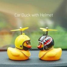 Promotion! Tout nouveau canard de voiture de mode avec casque vent cassé petit canard jaune vélo de route casque de moto équitation accessoires de cyclisme