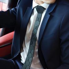 Classy Matte Black Hexagon Ties Stylish Men Neckties 20 Colors Luxury Hexties 5cm Gift Box Formal Dress Accessory Unique Design
