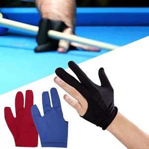 Guantes Queue Hiver Finger-Zubehr Hand-ffnen Spandex Handschuh Snooker Pool-Link Pull