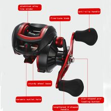 fishing Left / right hand Baitcasting Reel G ratio 8.1:1 Boat Bait Casting Fishing Reels carp Carretilha Pesca Fishing tackle(China)