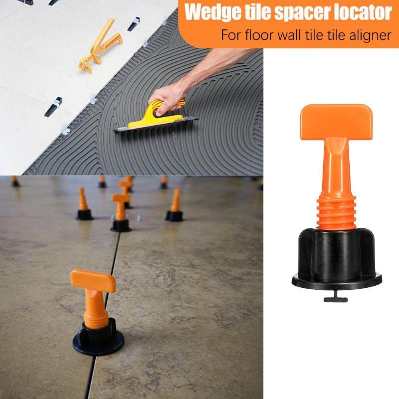 50pcs/set Mini Tile Leveling System Wedges Tile Spacers For Flooring Leveler Locator Spacers+Wrench Plier Wall Tile Carrelage