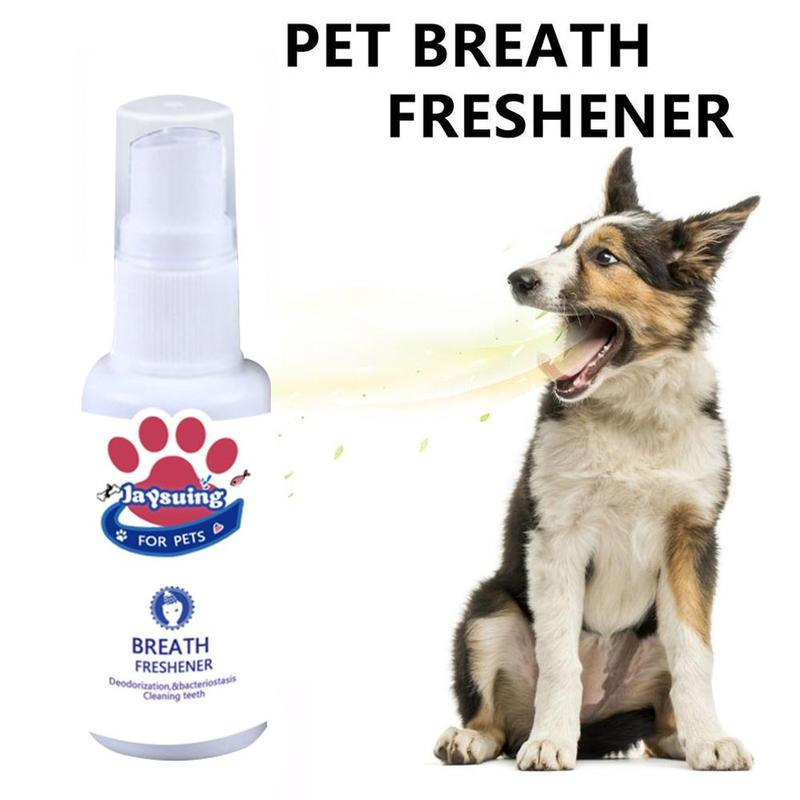 30ml Pet Oral Cleanser Pet Breath Freshener Mouth Oral Spray Fresh Breathing Dental Care For Dog Puppy