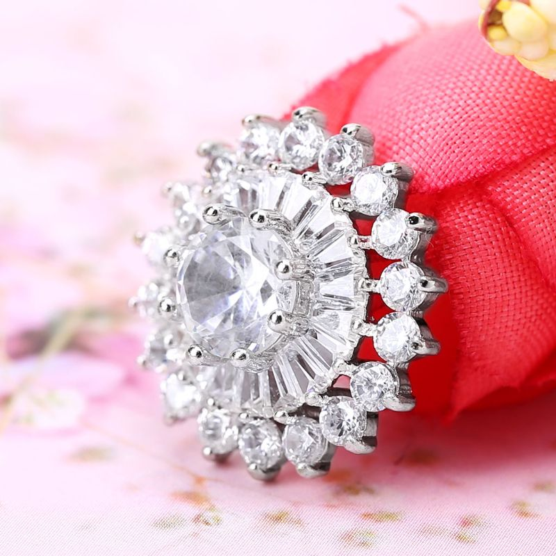 1Pc 1Pc 18mm Glitter Rhinestone Round 3 Layer Cake Shape Decorative Buttons With Metal Loop Shank Hole Sewing Clip Buckle DIY