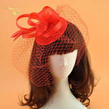 Birdcage Veil Wedding Hat with Hairclip White Facinators Bridal Hats Net Cover Face Women Headwear for Banquet Dinner Party
