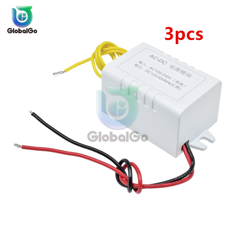 3 шт./лот AC-DC 300 мА силовой трансформатор модуль переменного тока 110-220 В в постоянный ток 12 В блок питания конвертер адаптер переключатель для ...