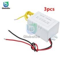 Transformateur d'alimentation électrique 300mA, Module convertisseur, AC 110-220V à DC 12V, adaptateur, commutateur pour bricolage, voiture, maison, 3 pièces/lot