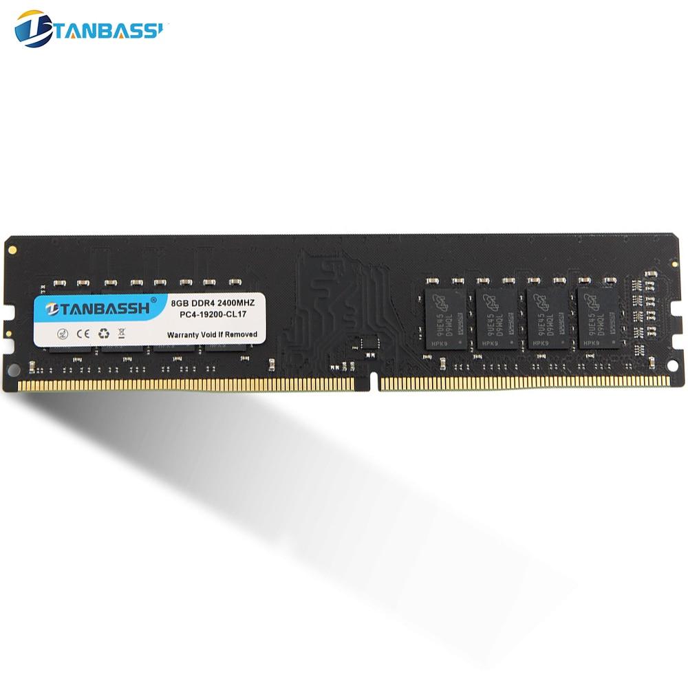 Ddr4 4 4 gb 8 gb ram 2400 mhz 2666 mhz 16 gb 2666 mhz computador dimm suporte de memória desktop placa-mãe ddr4 tanbassh